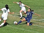 Anna Waldman, Mendocino College Eagles' force up front, is a powerful striker who capitalizes on scoring opportunities. The former Mendocino High School star leads the state in scoring.