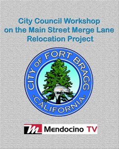 City Council Workshop on the Main Street Merge Lane Relocation Project small