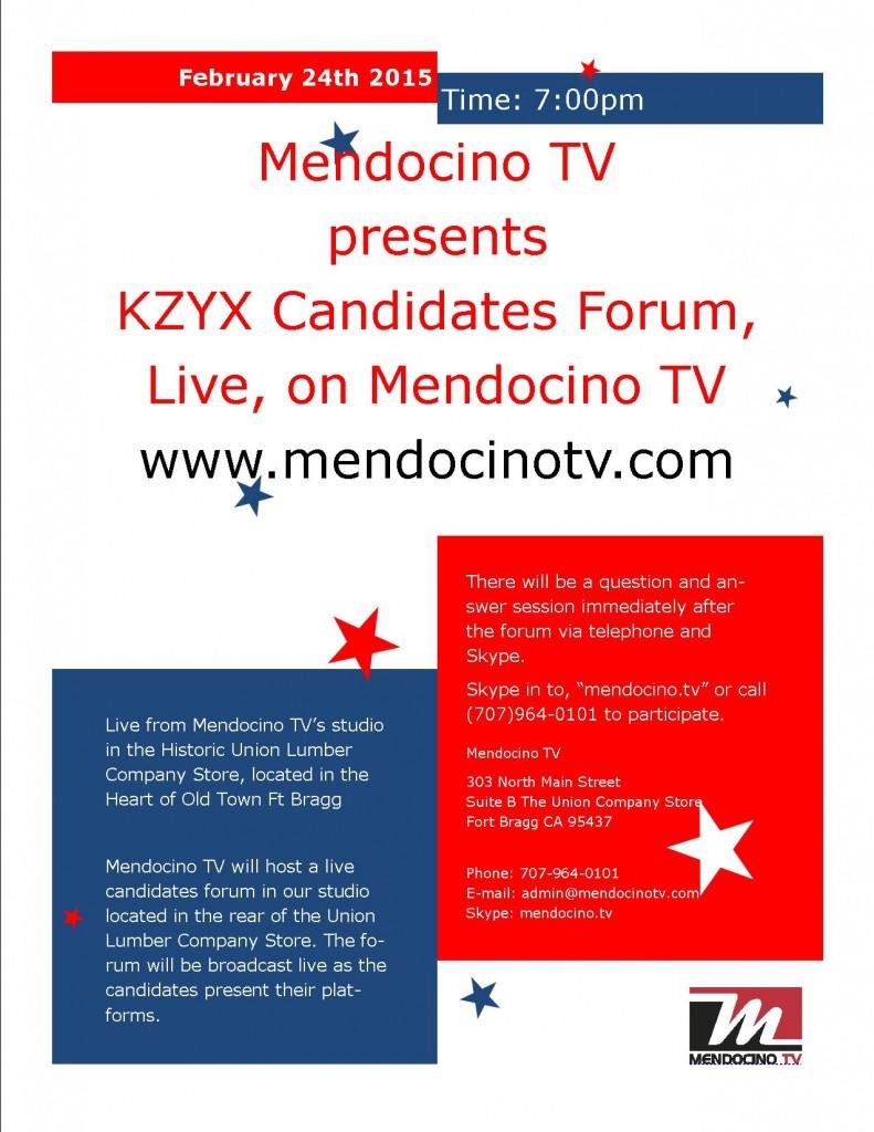 KZYX&Z Candidates Forum 7pm