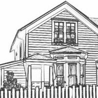 Hospitality House ink drawing