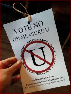 No on Measure U logo small