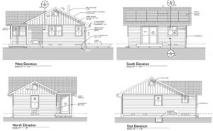 This is the Santa Cruz Cottage. Originally commissioned by the City of Santa Cruz, Fort Bragg paid the architect so that these plans can be given free of charge to Fort Bragg property owners.
